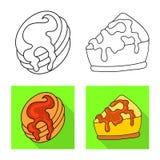 Objeto aislado de la confiter?a y del logotipo culinario Fije del icono del vector de la confiter?a y del producto para la acci?n libre illustration
