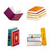 Objeto aislado de la muestra de la biblioteca y de la librer?a Colecci?n de icono del vector de la biblioteca y de la literatura  ilustración del vector