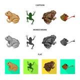 Objeto aislado de la muestra de la fauna y del pantano Fije del icono del vector de la fauna y del reptil para la acci?n libre illustration