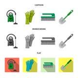 Objeto aislado de la muestra de la limpieza y del servicio Colección de icono del vector de la limpieza y del hogar para la acció libre illustration