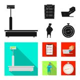 Objeto aislado de mercancías y del icono del cargo Colección de mercancías e icono del vector del almacén para la acción stock de ilustración