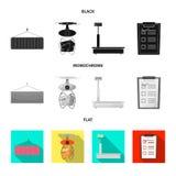 Objeto aislado de mercancías y del logotipo del cargo Colección de mercancías y de símbolo común del almacén para el web ilustración del vector