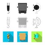 Objeto aislado de mercancías y del logotipo del cargo Sistema de mercancías e icono del vector del almacén para la acción libre illustration