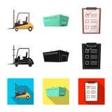 Objeto aislado de mercancías y del símbolo del cargo Colección de mercancías y de símbolo común del almacén para el web libre illustration