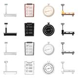 Objeto aislado de mercancías y del símbolo del cargo Sistema de mercancías e icono del vector del almacén para la acción stock de ilustración