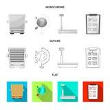 Objeto aislado de mercancías y de la muestra del cargo Colección de mercancías e icono del vector del almacén para la acción stock de ilustración