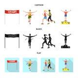 Objeto aislado del deporte y del símbolo del ganador Colección de símbolo común del deporte y de la aptitud para la web stock de ilustración