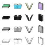Objeto aislado del icono de la biblioteca y del libro de texto Colecci?n de ejemplo com?n del vector de la biblioteca y de la esc ilustración del vector