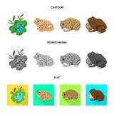Objeto aislado del logotipo de la fauna y del pantano Fije del s?mbolo com?n de la fauna y del reptil para la web ilustración del vector