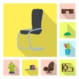 Objeto aislado del logotipo de los muebles y del trabajo Colección de muebles e icono casero del vector para la acción libre illustration