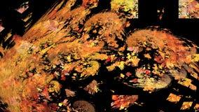 Objeto anaranjado giratorio abstracto en negro libre illustration