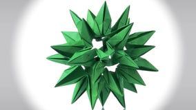Objeto cósmico abstracto verde de la papiroflexia ilustración del vector