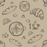 Objeto C do café do teste padrão Foto de Stock