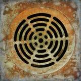 Objeto circular envelhecido oxidado Fotografia de Stock