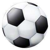Objeto clássico da bola 3D do futebol isolado Fotos de Stock Royalty Free