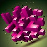 objeto colorido do sumário do estilo contemporâneo da malha 3D, origâmi Foto de Stock