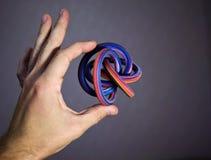 Objeto contínuo geométrico extraordinário Imagens de Stock