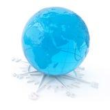 objeto 3D do vidro em um branco Imagem de Stock Royalty Free