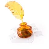 objeto 3D do vidro em um branco Fotografia de Stock Royalty Free