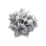 Objeto 3d sphericcal digital branco abstrato Imagem de Stock