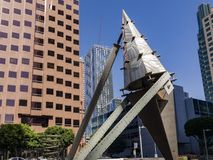 Objeto da arte e skyscrappers do centro Imagem de Stock