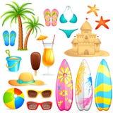 Objeto da praia do mar ilustração royalty free
