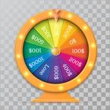 Objeto da roda da fortuna 3d ilustração stock