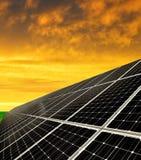 Objeto de energía solar de panels Fotos de archivo libres de regalías