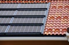 Objeto de energía solar de panels Imágenes de archivo libres de regalías