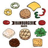Objeto A de la hamburguesa Foto de archivo