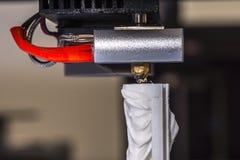 Objeto de la impresión en una impresora industrial 3D Fotografía de archivo