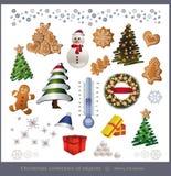 Objeto de la Navidad Imagenes de archivo