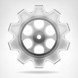 Objeto de la rueda de engranaje 3D aislado Foto de archivo