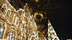 Objeto de las decoraciones en la Navidad almacen de metraje de vídeo