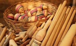 Objeto de madeira Fotos de Stock