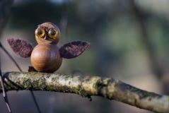 Objeto de madera de Owl Imágenes de archivo libres de regalías