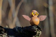 Objeto de madera de Owl Fotos de archivo