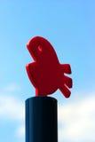 Objeto de peixes vermelhos plásticos Foto de Stock
