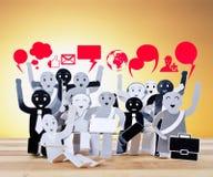 Objeto de sorriso para o símbolo da rede do social do negócio Imagens de Stock