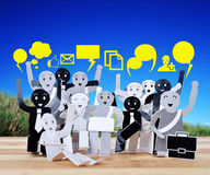 Objeto de sorriso para o símbolo da rede do social do negócio Imagens de Stock Royalty Free