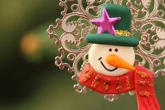 Objeto decorativo do boneco de neve Fotografia de Stock