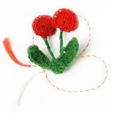 Objeto decorativo hecho a mano de la flor del ganchillo Imágenes de archivo libres de regalías