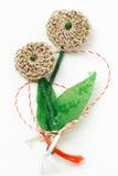 Objeto decorativo hecho a mano de la flor del ganchillo Fotos de archivo libres de regalías