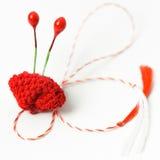 Objeto decorativo hecho a mano de la flor del ganchillo Fotografía de archivo libre de regalías