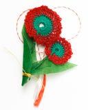 Objeto decorativo hecho a mano de la flor del ganchillo Imagen de archivo libre de regalías