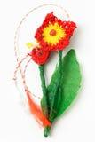 Objeto decorativo hecho a mano de la flor del ganchillo Fotografía de archivo