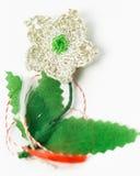 Objeto decorativo hecho a mano de la flor del ganchillo Imagenes de archivo