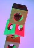 Objeto del cubesObject de madera de cubos de madera Foto de archivo libre de regalías