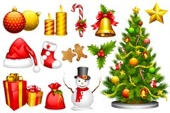 Objeto del diseño de la Navidad stock de ilustración