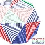 objeto del diseño del extracto del vector 3D, fondo poligonal Imagenes de archivo